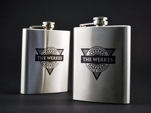 Laser-marked flasks, laser etching services, MA, RI, CT, NH, ME, VT, NY