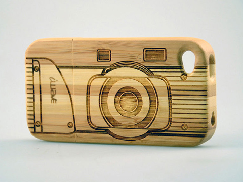 Laser-marked cell phone case, wood phone case laser etching, MA, RI, CT, NH, ME, VT, NY