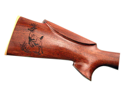Laser-etched rifle stock, gun laser engraving services, MA, RI, CT, NH, ME, VT, NY