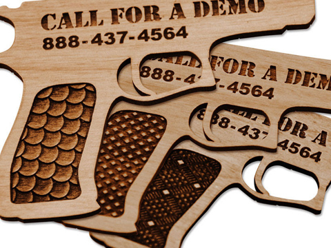 Laser-marked wooden business cards, wood business card laser engraving, MA, RI, CT, NH, ME, VT, NY