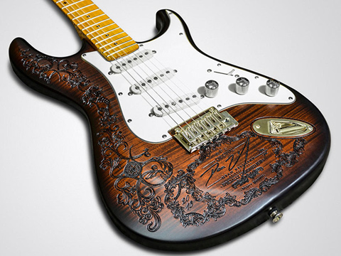 Laser-engraved guitar stock, guitar laser etching services, MA, RI, CT, NH, ME, VT, NY