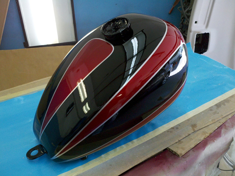 Vintage motorcycle paint jobs, classic motorcycle molding fabrication, painting classic British motorcycles, vintage British motorcycle molding fabrication, MA, RI, CT, NH, ME, VT, NY