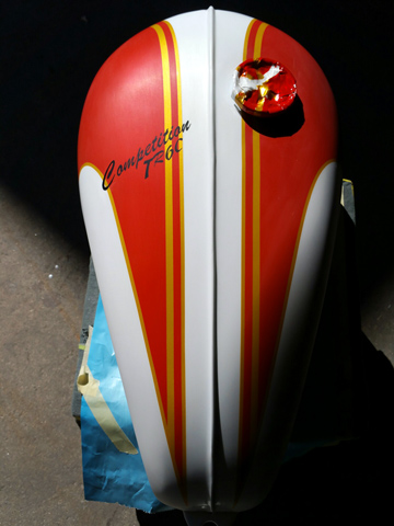 Classic motorcycle paint jobs, vintage British motorcycle molding fabrication, MA, RI, CT, ME, NH, VT, NY